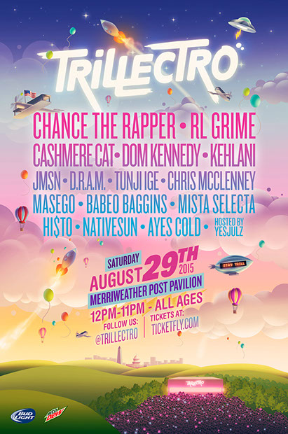 TRILLECTRO MUSIC FESTIVAL 2015 LINEUP: Aug 29th, Trillectro will be staging there megafest starring Chance The Rapper, Dom Kennedy, Kehlani, and more.
